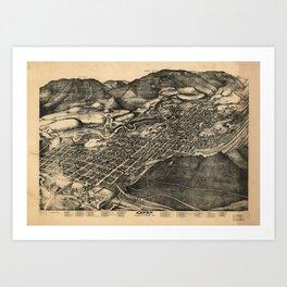 Bird's Eye View of Aspen, Colorado (1893) Art Print