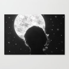 Exaggerated Night Sky Canvas Print
