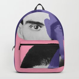 Franz Kafka - portrait pink and purple Backpack