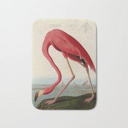 American Flamingo by John James Audubon, Vintage Illustration Bath Mat