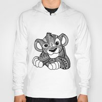 simba Hoodies featuring Zentangle Simba by ElFineLines
