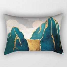 Golden Waterfall Rectangular Pillow