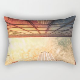 New York City Chrysler Building Up Up and Away Rectangular Pillow
