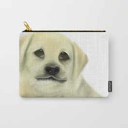 Golden Labrador Retriever Puppy with Doleful Eyes Carry-All Pouch