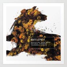 Hufflepuff Nature Art Print