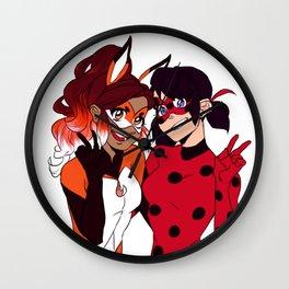 Miraculous - Ladybug & Rena Rouge Wall Clock