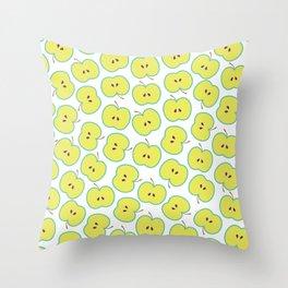 Summer apple Throw Pillow