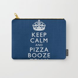 Keep Calm and Pizza Booze Telly Carry-All Pouch