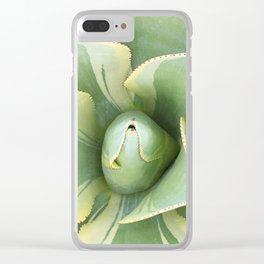 Variegated Agave Clear iPhone Case