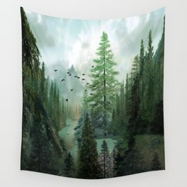 Mountain Morning 2 Wall Tapestry