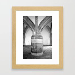 Church pillars St.Aegidienkirche Oschatz Framed Art Print