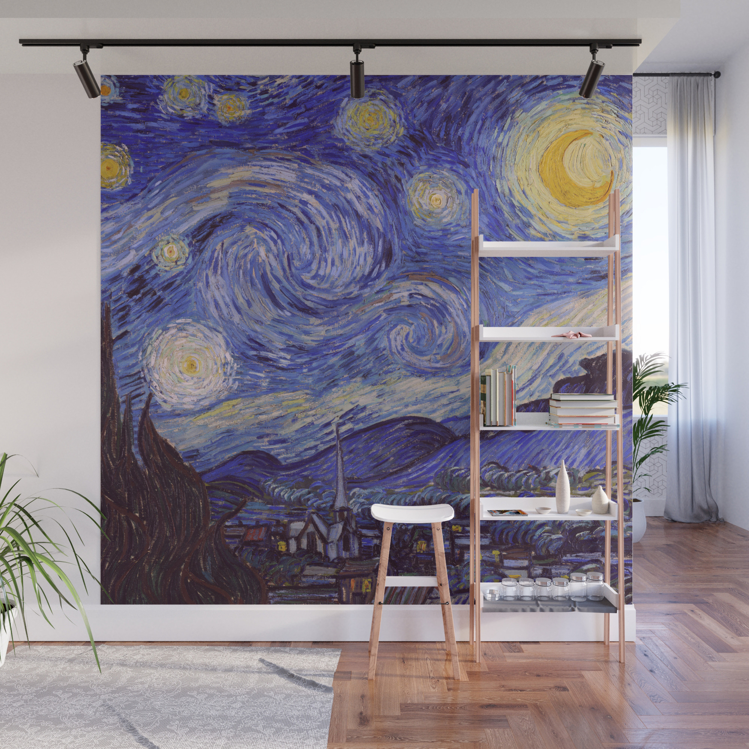 Vincent Van Gogh Starry Night Wall Mural By Artgallery Society6