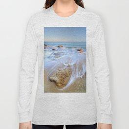 Serenity sea. Looking At The Waves... Long Sleeve T-shirt