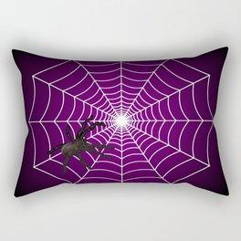Zombie Purple Spider Web Rectangular Pillow