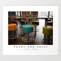 Toads And Sheep Art Print