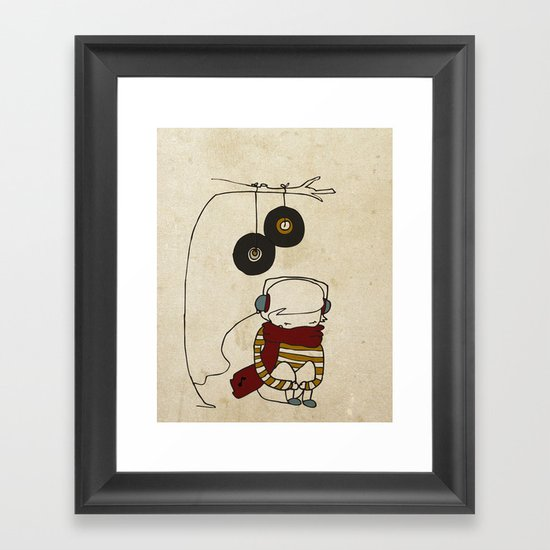 Music Tree Framed Art Print