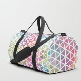 Geometric Fractal Triangles Bubblegum Rain Duffle Bag