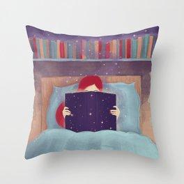 Booklover Throw Pillow