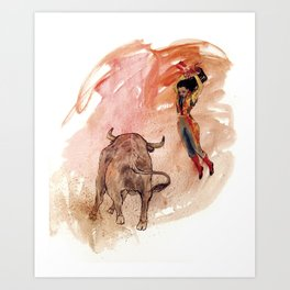 Bullfighter Art Print