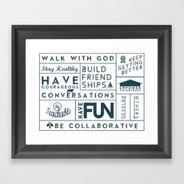 GRACE CHURCH VALUES Framed Art Print