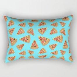 Pizza Party Blue Pattern Rectangular Pillow