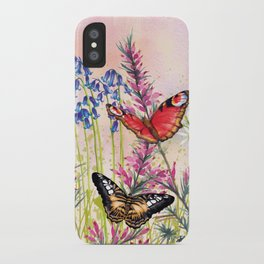 Wild meadow butterflies iPhone Case