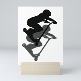 Scooter Boy - Stunt Scooter #5 Silhouette Mini Art Print