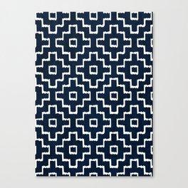 Blue Geometric Pattern Canvas Print