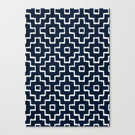 Blue Geometric Pattern Canvas Print