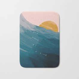 """""""One Wave At A Time"""" Bath Mat"""