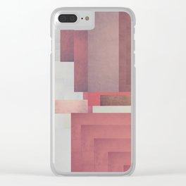 Red Geometric Clear iPhone Case