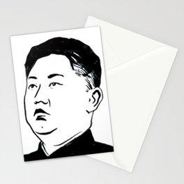 kim jong un Stationery Cards