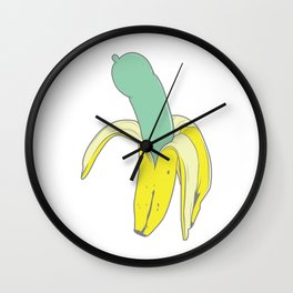 Banana Condoms Wall Clock