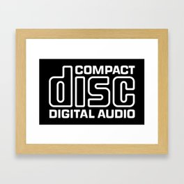 Compact Disk Digital Audio Logo - White Framed Art Print