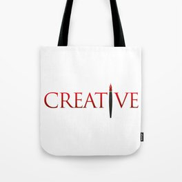 Creative Word with Pen Tote Bag
