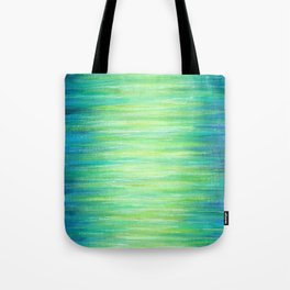 Blue Green Ombre Art Painting Print Tote Bag