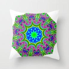 mosaic mandala Throw Pillow