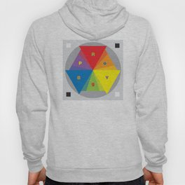 Color wheel by Dennis Weber / Shreddy Studio with special clock version Hoody