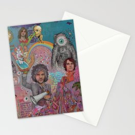 The Flaming Lips - Fear Of Slippery Brains, Electric Toasters & Evil Natured Robots From Outer Space Stationery Cards