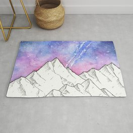 Mountains in the Evening Rug