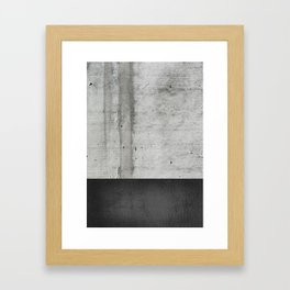 Raw Concrete and Black Leather Framed Art Print
