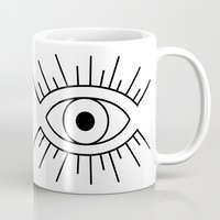 illuminati Mugs featuring Illuminati Eye by Lucas de Souza