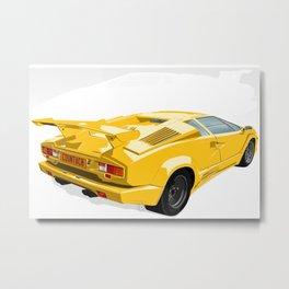 Lamborghini Countach - 25th Anniversary Edition Metal Print