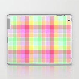 Pastel Rainbow Sorbet Ice Cream Check Plaid Laptop & iPad Skin