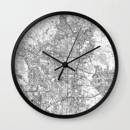 Kyoto Map Line Wall Clock