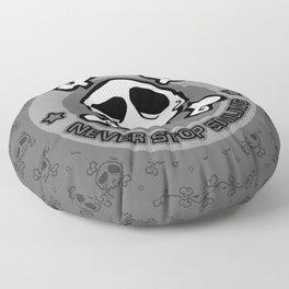 Never Stop Smiling (dark) Floor Pillow