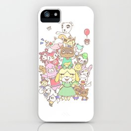 Animal Crossing (yellow) iPhone Case
