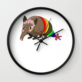 Funny Anteater Gay LGBTQ Pride Gift product Women Girls Wall Clock