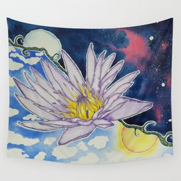 Night and Day Water Lily Wall Tapestry