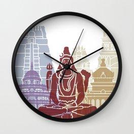 Bangalore skyline poster Wall Clock